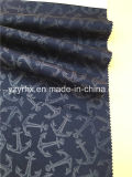 ينهى بناء 100% قطر زرقاء نسيج قطنيّ دراق مرجاة يطبع قماش