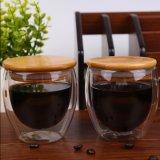vetro di vetro arancione doppio del whisky della tazza di caffè 250ml