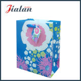 Funkeln blüht des Ivory Papier-210GSM Einkaufen-Paket-Geschenk-Papierbeutel