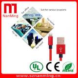 Кабель данным по USB кабеля заряжателя Smartphone кабеля заряжателя оплетки молнии Nylon