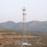 На опорный уголок стальной башни антенны электросвязи
