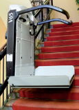Подъем лестницы платформы, изогнутый Inclined подъем Platfrom