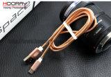 Cable elástico del relámpago del USB Apple del cable del resorte del metal para la aleación del cable del USB de Mfi del cargador de Apple iPhone5/5s/6