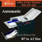 Machine se plissante et se pliante du bureau A3 A4 B7 B6 de Boway de dépliant de papier automatique de feuille