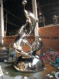 Combinazione del delfino, scultura decorativa dell'acciaio inossidabile della decorazione esterna del giardino