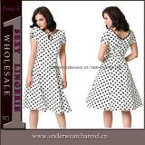 Vestido Sleeveless formal do vintage das mulheres reais do tiro (TDN1505)