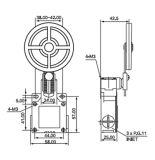 10A/250VAC grote Plastic Duiker csa-051 van het Staal van de Schakelaar van de Grens van het Type van Wapen van de Rol
