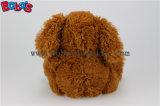 암갈색 빨간 심혼 베개 Bos1151를 가진 견면 벨벳에 의하여 채워지는 개 동물