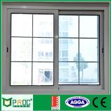 Fenêtre coulissante en aluminium résidentiel avec gril