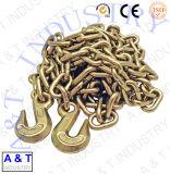 Galvanizzare la catena a maglia ordinaria dell'acciaio dolce con catena a maglia media/lungamente breve/