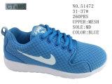 Голубые ботинки спорта детей сетки цвета