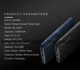 Banco de potencia de 15mm Ultra Slim 10000mAh Powerbank Teléfono Móvil de salida de 2.1A 10000mAh batería externa.