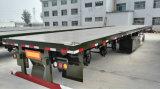 Dei 3 dell'asse rimorchi del camion della piattaforma del contenitore rimorchio a base piatta semi da vendere
