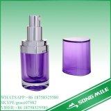 30ml一義的なデザインクリームのためのアクリルの紫色のローションのびん