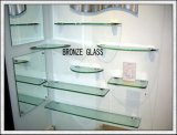 Het Glas van de plank met Opgepoetste Randen voor de Zaal van de Douche van de Badkamers