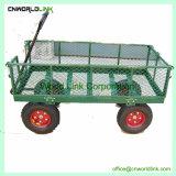 高品質のFoldable鋼鉄網の庭の圧延ワゴントレーラー