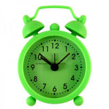 Kid's Cute Twin Bell 3D Time Scale Silicone Mini Table Alarm Clock