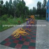 Tuiles en caoutchouc carrées/machine à paver en caoutchouc colorée/tuiles en caoutchouc d'enfants (GT0200)