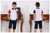 Personalizar la moda elegante de la escuela primaria del niño y niña S53105 uniforme