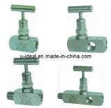 Válvula de parada de manómetro Válvula de asiento de válvula de aguja de drenaje de agua