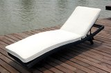 Concisa tumbona reclinable de mimbre muebles para jardín
