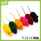 Juguete flocado del gato del ratón del silbido (HN-PT593)
