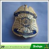 La polizia su ordinazione del raccoglitore Badge il distintivo dell'ufficiale del distintivo di obbligazione