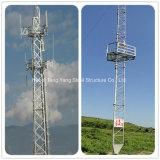 Linha de transmissão de sinal triangular de Guy torre de telecomunicações