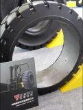 Presse 40*16*30 (1016X406.4X762) auf festem Gabelstapler-Gummireifen mit Band