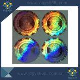 Impression par autocollant laser en forme de cercle