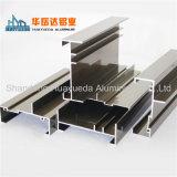 Unterschiedlicher Oberflächenc$t-schlitz, der das 6063 Strangpresßling-Aluminiumprofil für Fenster verbiegt