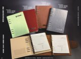Het Spiraalvormige Notitieboekje van het metaal/Kleurrijke Pu- Agenda