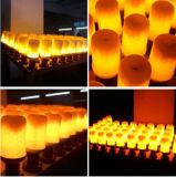 Luz de cintilação do incêndio da emulation da lâmpada 5W SMD2835 85-265V do bulbo do efeito da flama do diodo emissor de luz E27