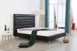 Königin PU-Bett mit den rostfreien Beinen (OL17173)