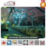 De duidelijke Hoogste Tent van de Ontvangst van het Huwelijk van het Dak van de Tent Transparante