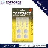 Tasten-Zellen-Lithium-Batterie des Cr-3V mit Cer für Spielzeug (CR 16PCS)