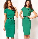 Fabrik-Kleidung Soem-Form-Büro-Frauen Bodycon Kleid