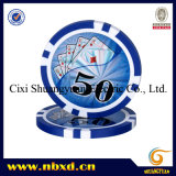 11.5g 8strpe Poker Chips met Customized Stickers (sy-D17D)