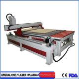 Macchina per incidere di legno di CNC di 4 assi con la Tabella di vuoto