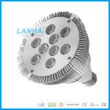 PAR de alumínio de alta potência38 Copa de luz LED de 9 W E27 em destaque