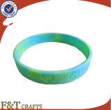 Preiswertes förderndes Liebes-Paar-Andenken-Geschenk-kundenspezifisches Zeichen-Silikon-Armband (FTSB8252J)