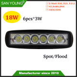Voiture 18W à LED Lampe à LED de la conduite de lumière LED de 6 pouces de Spotlight