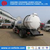Nouvelle conception des camions d'aspiration des eaux usées 10000litres réservoir de dépression pour les boues des eaux usées, l'eau sale, le transport des matières fécales