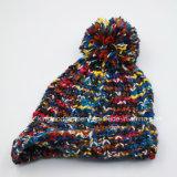 100% теплой зимой акриловый трикотажные Red Hat с Pompom синего цвета