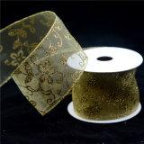 زاويّة مطبّقة [أرغنزا] تلألؤ زهرة وشاح مع معدنيّة سلك حافة