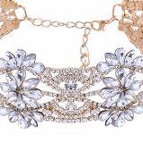 Halsband van de Nauwsluitende halsketting van de Kraag van de Bloemen van het Kristal van de manier de Grote