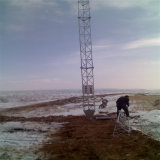 60m Galvanized Steel Communication Mast Guyed Lattice Tower