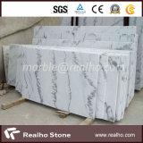 Mattonelle di marmo di pietra bianche poco costose di Guangxi