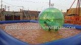 Aufblasbare Wasser-Rolle, Wasser-gehende Rolle, menschliche Rasen-Rolle, lustige aufblasbare Rad-Rolle, Rollen-Kugel