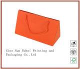 贅沢なカスタムハンドルによってパッキングのための印刷によって印刷される塗被紙のショッピング包装のキャリアのギフトの紙袋